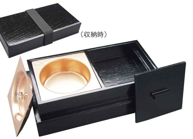 携帯用箱形香炉(オトシ蓋付)