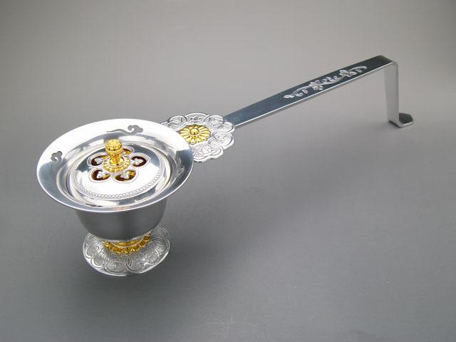 ジュラルミン製柄香炉