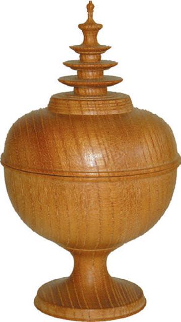宝珠塔香合(欅製)