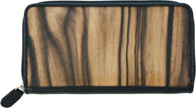 黒柿ラウンド財布