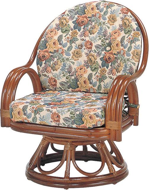 籐製回転椅子