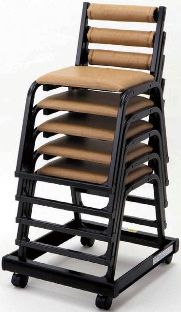 専用台車(アルミ製 本堂用椅子・シングルタイプ)