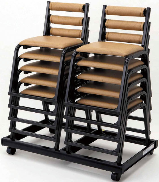 専用台車(アルミ製 本堂用椅子・ダブルタイプ)