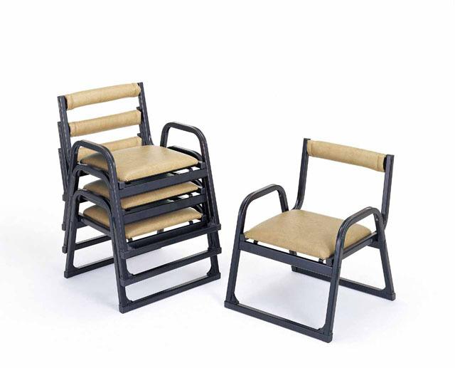 アルミ製 本堂用椅子(低座タイプ) 5脚セット