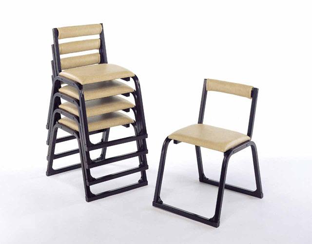 アルミ製 本堂用椅子(補助アーム無) 5脚セット