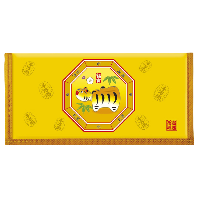 干支カレンダー財布(金運柄)(10個セット)