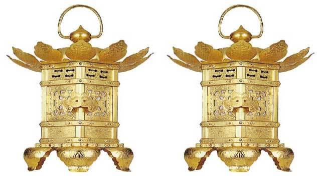 六角型金灯籠・西用(一対)