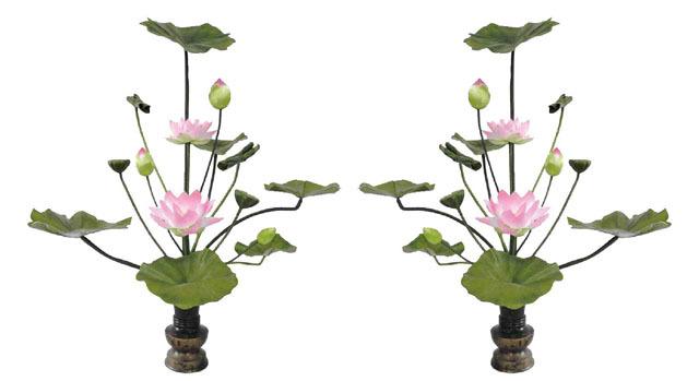 シルク常花(常花15本立・水上75cm)一対