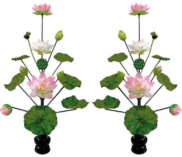 シルク常花(常花15本立・水上75cm/小)一対