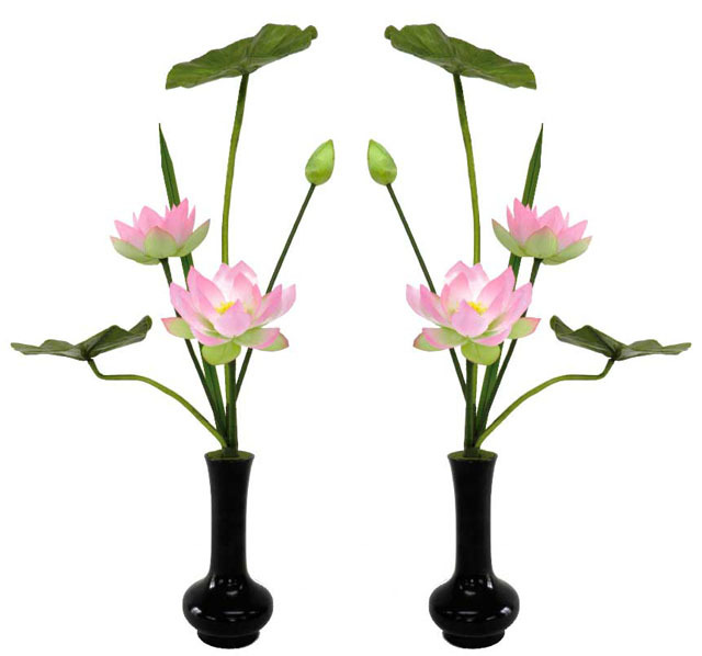 シルク常花(常花6本立・水上50cm)一対