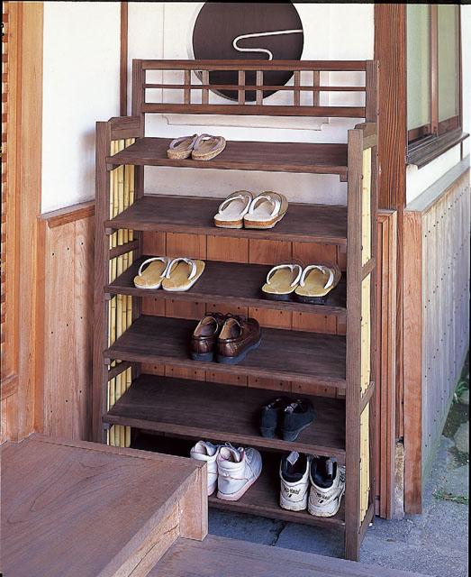 竹製履物棚(組立式)
