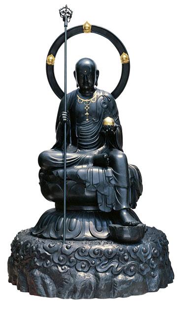 唐金仏像 六尺地蔵尊(坐像)
