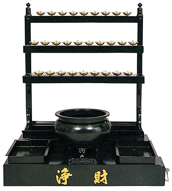 万灯付香炉台(賽銭箱付)