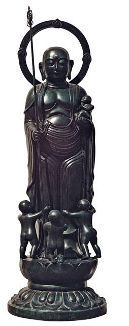 唐金仏像 四尺水子地蔵尊