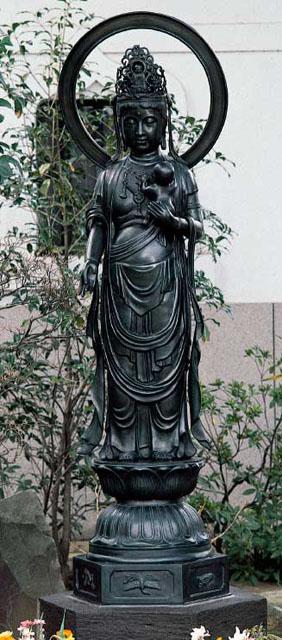 唐金仏像 六尺五寸水子観音像