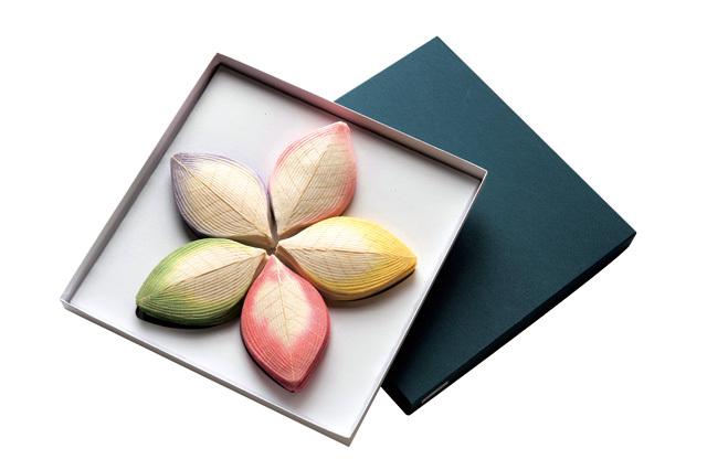 高級散華 上ハスの花弁(五色) 200枚1箱