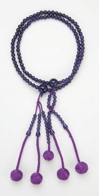 京念珠<日蓮宗>紫水晶(8寸)