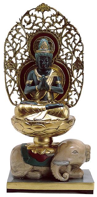 唐金仏像 普賢菩薩