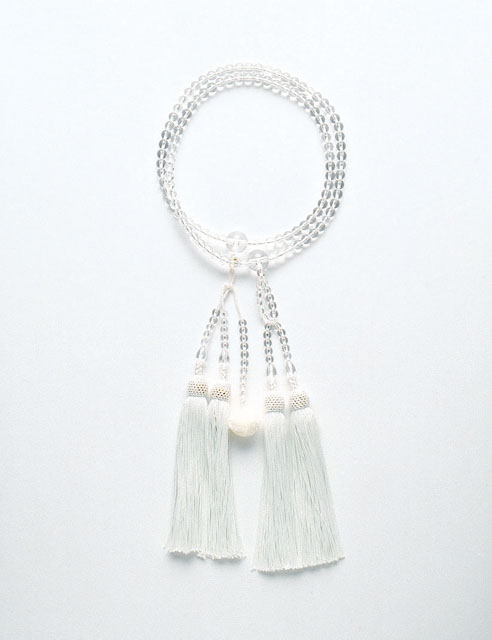 京念珠<日蓮宗>本水晶尺6寸
