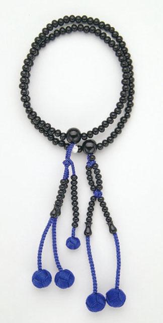 京念珠<日蓮宗>黒檀(8寸)