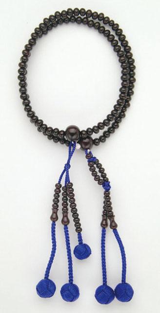 京念珠<日蓮宗>紫檀(8寸)