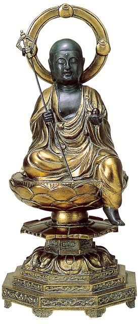 唐金仏像 地蔵菩薩