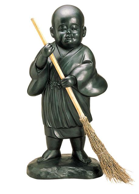 唐金仏像 洗心童子(お掃除小僧)