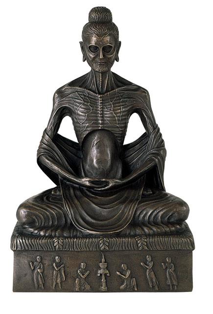 唐金仏像 釈迦苦行像