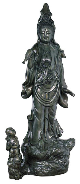 唐金仏像 四尺慈母観音像