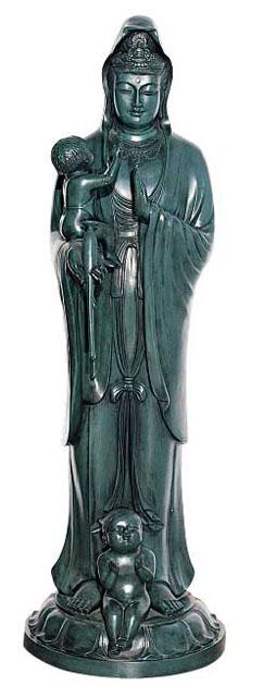 唐金仏像 三尺三寸水子観音像