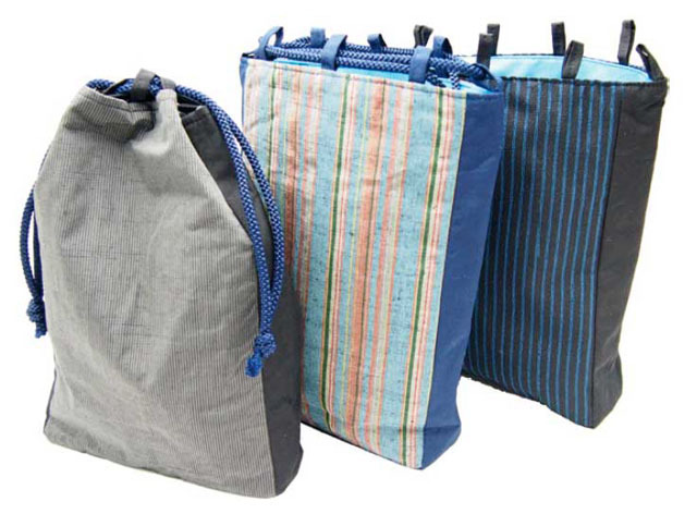 絹ループ巾着袋(内ポケット付)