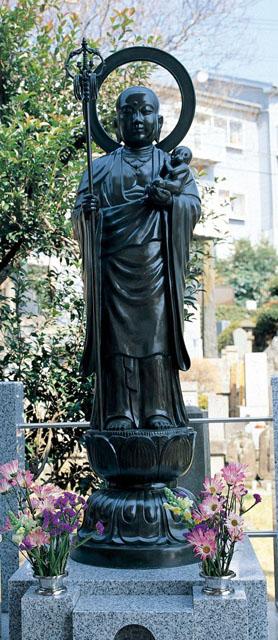 唐金仏像 五尺五寸水子地蔵尊