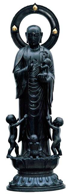 唐金仏像 五尺二寸水子地蔵尊