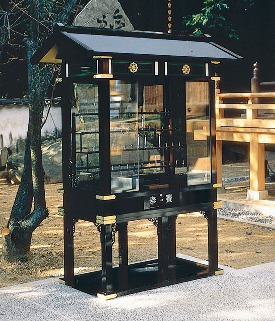 アルミ製献灯台(黒色)