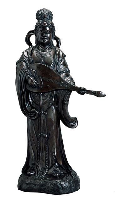 唐金仏像 弁財天