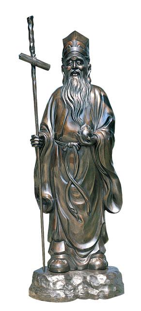 唐金仏像 寿老人