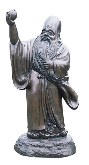 唐金仏像 福禄寿