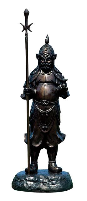 唐金仏像 毘沙門天