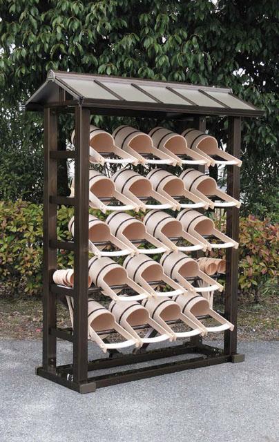 アルミ製手桶棚(両屋根タイプ)