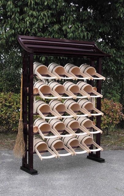 アルミ製手桶棚(片屋根タイプ)