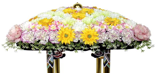 花御堂用シルク花飾り(2020年デザイン)