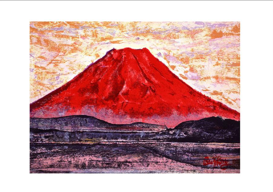 赤富士より紅富士