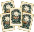 【大黒天】大黒様の開運画【特製ポストカード】5枚セット 開運絵葉書 招福アイテム 縁起物 商売繁盛 開運到来
