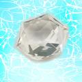 六芒星ヒランヤ・ストーン 36面カット クリスタルクォーツ 水晶 パワーストーン ヘキサグラム