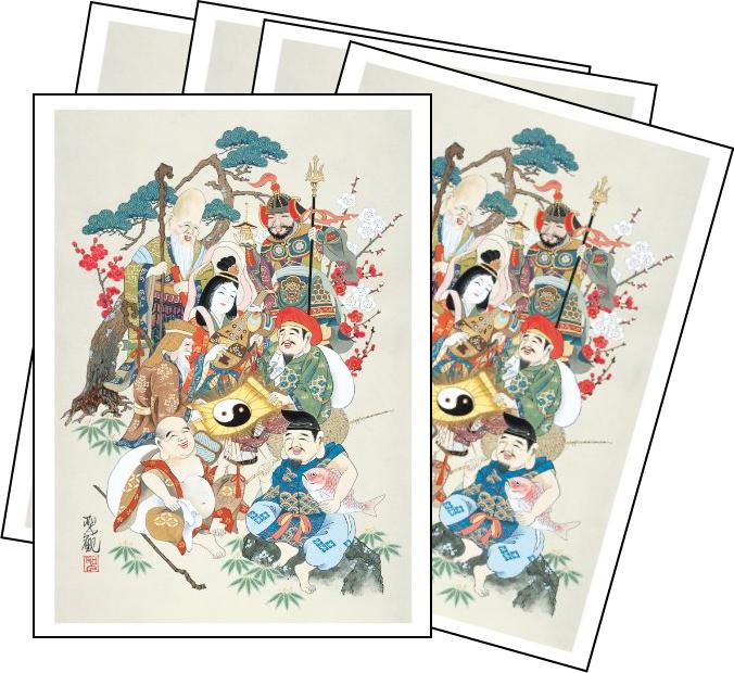 七福神ポストカード絵葉書