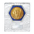 メダル付きガラス製盾 勇者