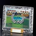 ゴルフ専用デジタルプリントレリーフ付ガラス製盾