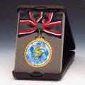 フルカラーマーク付きメダルA型蝶リボン付き