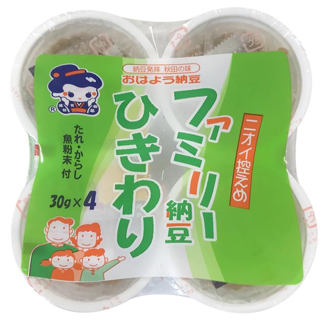 【たれが変わりました!】おはよう納豆 ファミリー納豆ひきわり カップ4/12個入【冷蔵・冷凍と同梱可】