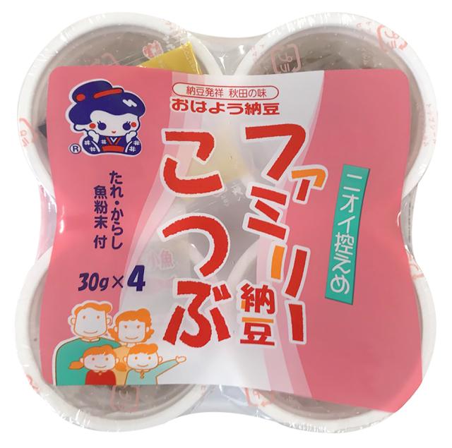 【たれが変わりました!】おはよう納豆 ファミリー納豆こつぶ カップ4/12個入【冷蔵・冷凍と同梱可】